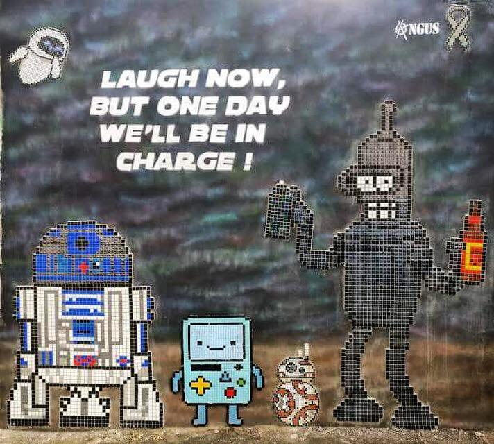 Famous robots mosaic by Angus